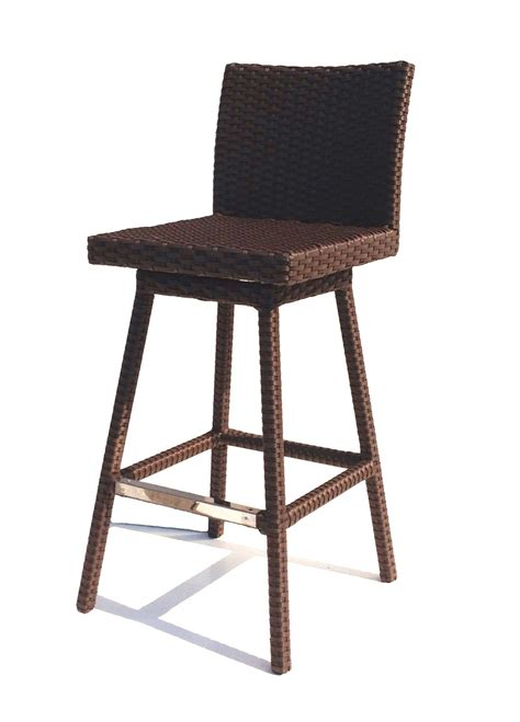 Outdoor Wicker Bar Stool Sonoma Outdoor Wicker Swivel Barstool