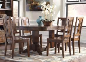 Ashleys Furniture Dining Room Sets Buy Furniture Chimerin Oval Dining Room Extension Table Set Bringithomefurniture