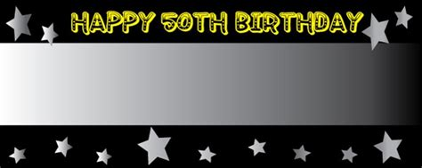 50th birthday banner template personalised 50th birthday banners partyrama