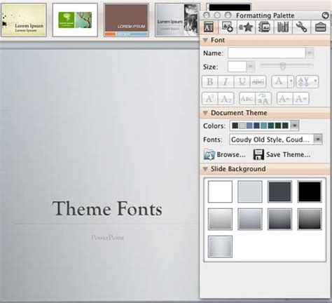 theme ppt for mac theme fonts in powerpoint 2008 for mac powerpoint tutorials