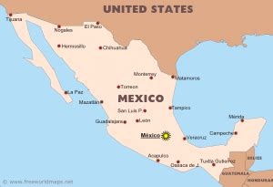 free printable map of mexico free printable map of mexico travel maps and major