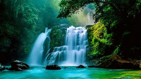 tropical waterfall desktop wallpaper  wallpapersafari