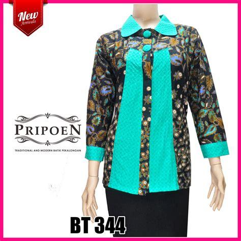 Baju Atasan Wanita 55 baju batik atasan wanita terbaru pripoen batik pekalongan baju batik pekalongan
