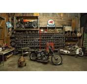 Harley In A Vintage Garage Repinned By WwwBlickeDeelerde