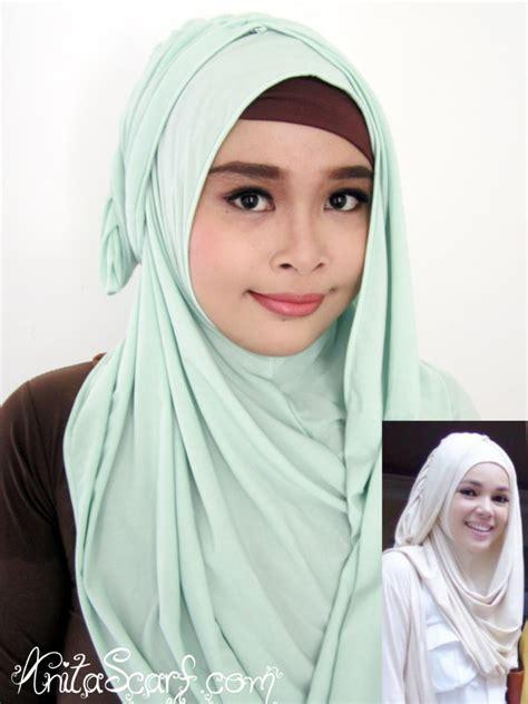 Jilbab Instan Dewi instan hana elsa dewi hijau muda