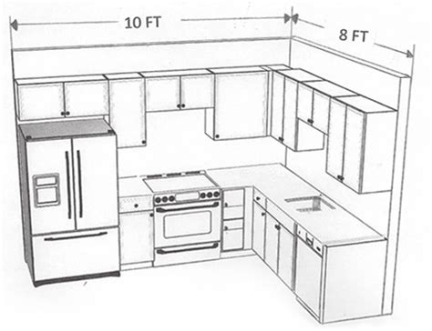 kitchen layout 8 x 8 wood cabinets granite countertops discount prices