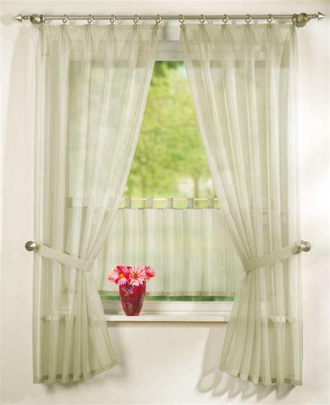 gardinen creme 5tlg gardinen set uni transparent in creme sch 246 ner wohnen