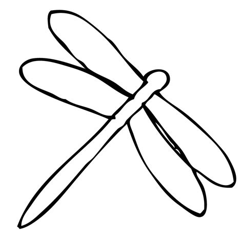 dragonfly template dragonfly outline cliparts co