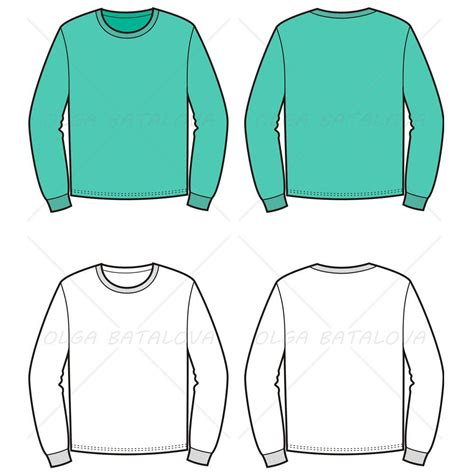 sweater template s sweater fashion flat template illustrator stuff