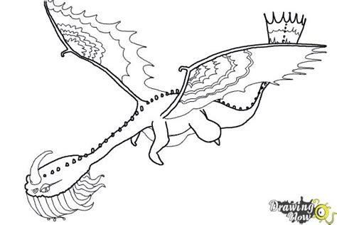 Scauldron Dragon Coloring Page | how to draw a scauldron dragon from how to train your