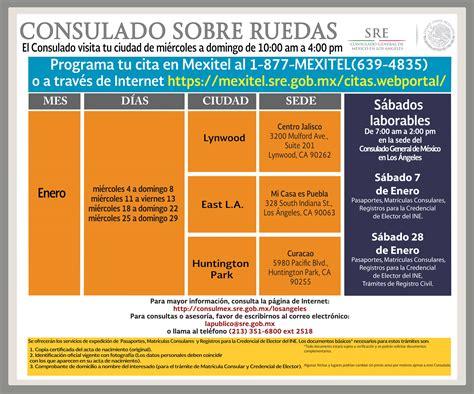 Calendario Consulado Mexicano Sobre Ruedas 2015 El Consulado Sobre Ruedas Visita Tres Ciudades