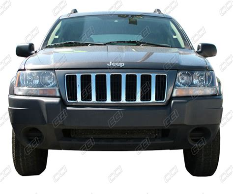 Jeep Grand Grill Inserts Jeep Grand Chrome Grille Insert Overlay Trim