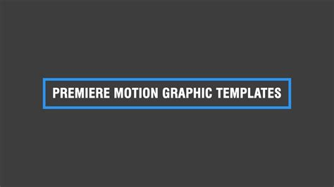 Free Premiere Motion Graphics Templates Premiere Tutorial Youtube Free Motion Graphics Template Premiere Pro