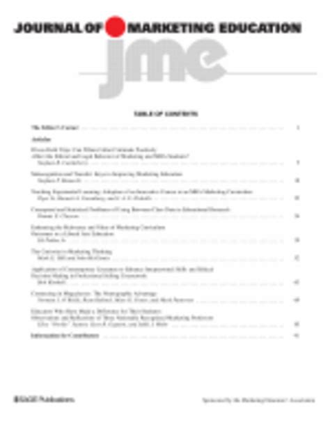 Marketing Education by Journal Of Marketing Education