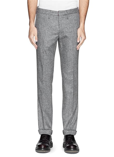 Josephpants With Wool lyst incotex wool tweed in gray for