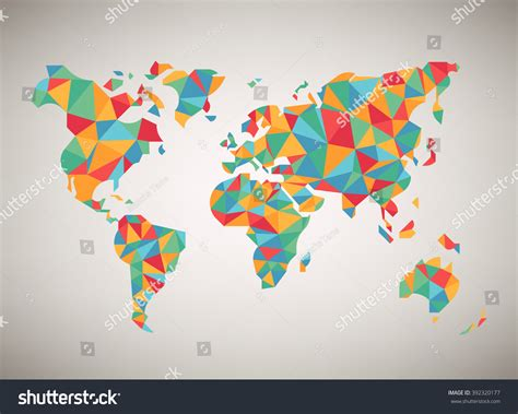world map vector cool abstract colorful stock vector