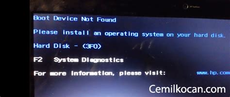 boot device not found hatas箟 199 246 z 252 m 252 cemilkocan