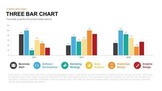 free powerpoint charts and graphs templates three bar chart powerpoint keynote template slidebazaar