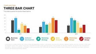 free powerpoint chart templates three bar chart powerpoint keynote template slidebazaar