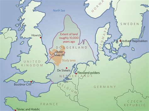 map of america 12000 years ago doggerland mapping a lost world
