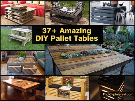 37 amazing diy pallet tables