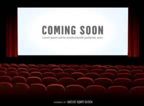 cinema screen mock up vector download