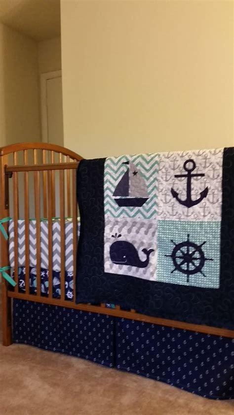 Nautical Crib Bedding For Boys Nautical Treasure Custom Baby Bedding Baby By Everythingsewn91 Nautical Nursery Pinterest