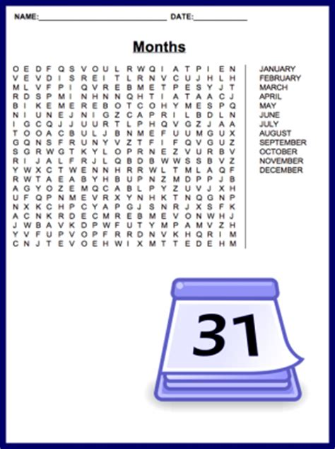 printable word search months of the year month wordsearch images frompo 1