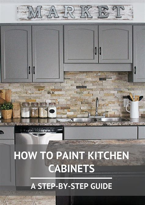 steps to painting kitchen cabinets how to paint kitchen cabinets step guide kitchens and house