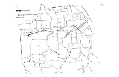 san francisco map black and white san francisco bike map san francisco mappery