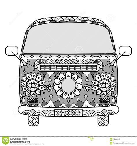 vintage car in zentangle style vector illustration