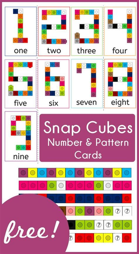 regular pattern synonym snap cubes number and pattern cards awesome patterns