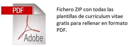 Plantillas De Curriculum Para Rellenar Pdf curriculum para llenar pertamini co
