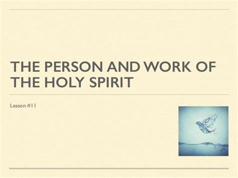 the person and work of the holy spirit books 11 the person and work of the holy spirit