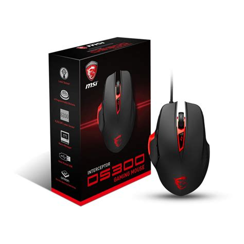 Msi Ds Gaming Pc Desktop Gaming msi ds300 interceptor gaming mouse taipei for computers