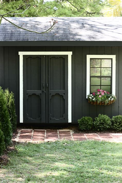 Paint For Garden Sheds by The Hunted Interior The Shed Paint It Black Patio