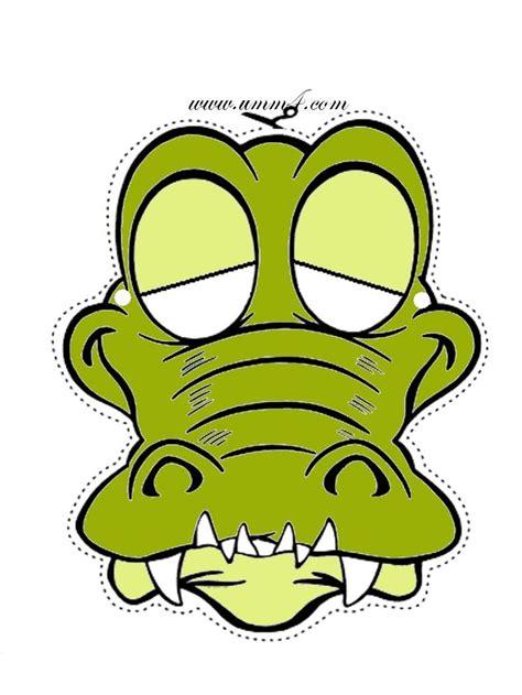 Printable Alligator Mask | krokodil masker basisonderwijs nationale voorleesdagen