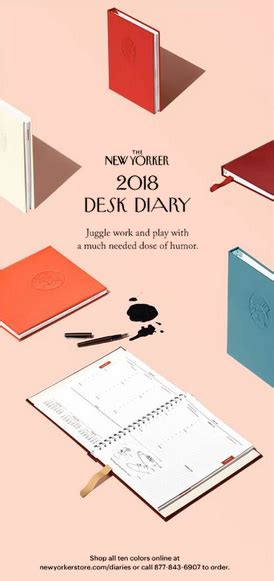 yorker desk diary 2018 a moose in the hoose material goods the yorker diary
