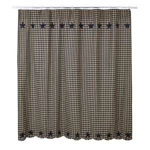 black shower curtain country applique plaid