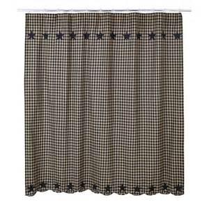 Primitive Shower Curtains Black Shower Curtain Country Applique Plaid Black Khaki Primitive Ebay