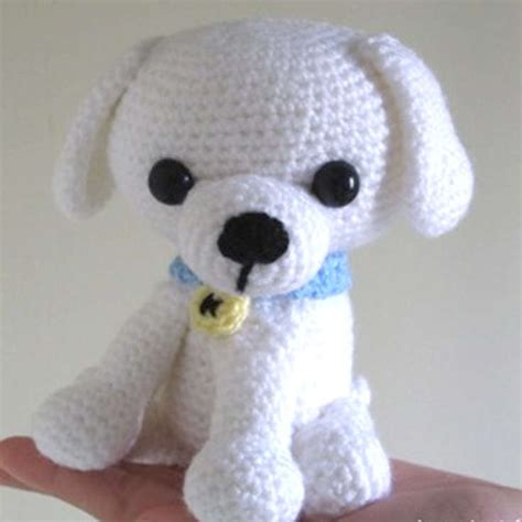 amigurumi pattern dog free kino the little white puppy wixxl