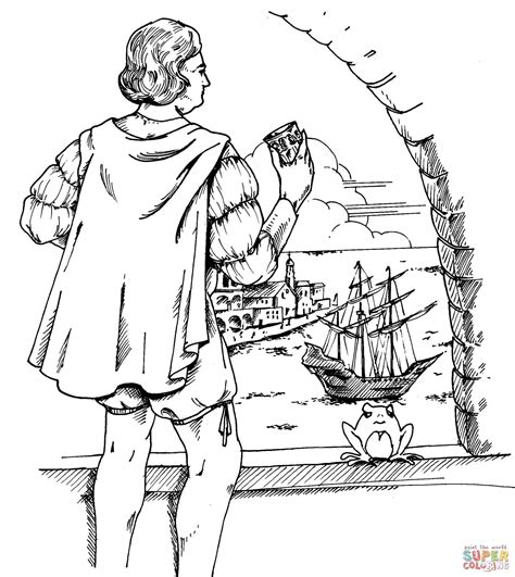 Christopher Columbus Coloring Pages Printable by Christopher Columbus Coloring Page Free Printable