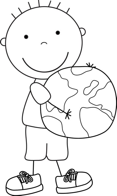 simple earth coloring page color pages for kids earth day boys
