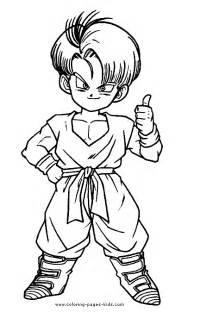 dragon ball trunk coloring pages