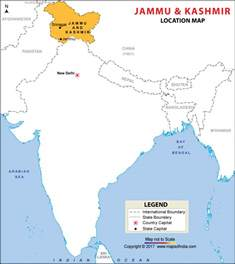 Jammu Kashmir Map Outline by Location Map Of Jammu And Kashmir