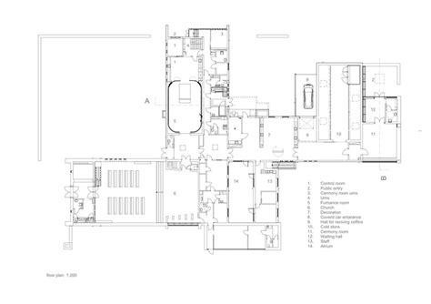 crematorium floor plan crematorium in kalmar strindberg arkitekter archdaily