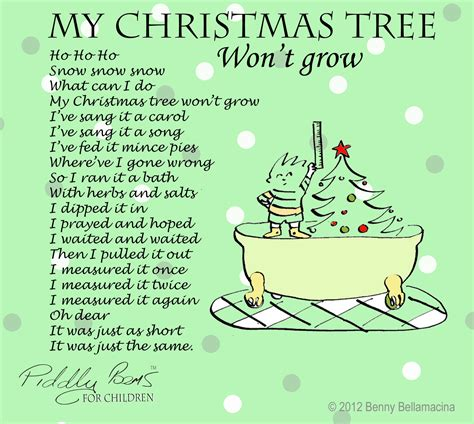 piddly poems my christmas tree won t grow