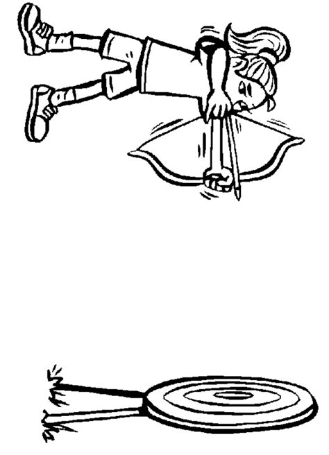 bow coloring pages compound bow and arrow coloring pages coloring pages
