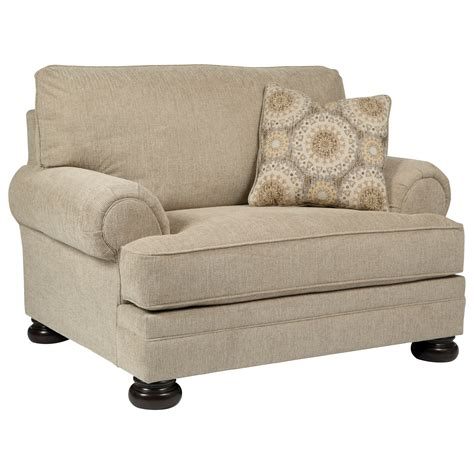 and chair and a half chair and a half with rolled arms and bun by