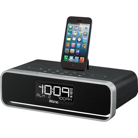 i home ihome idl91b dual charging stereo fm clock radio idl91b b h